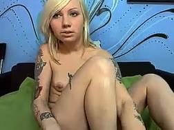 tattooed blond fingers cunt
