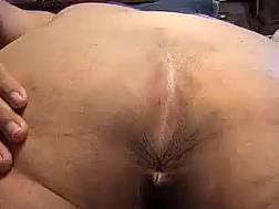 fat wifey shows asshole