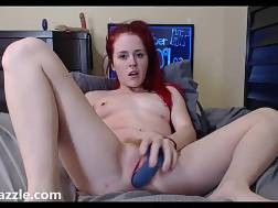 nasty redhead plays pussy