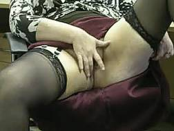 mature lady entertains herself