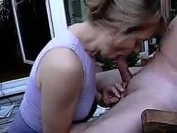 mature bitch enjoys sucking