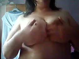 massaging large boobs warm