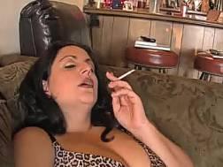 cute curvy wifey smoking
