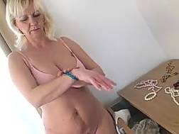 mature blonde wifey plays