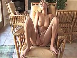 cute orgasm craving blond