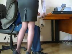 secretary lets stroke nicely