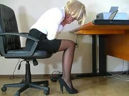 secretary lets stroke nicely