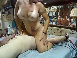 naughty tanned wifey rides