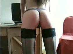 sexual coed shows backside