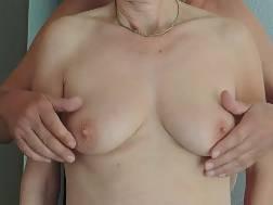 wifey enjoys rub hooters