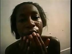 dirty ebony prostitute getting