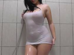 awesome nymph teasing bathroom