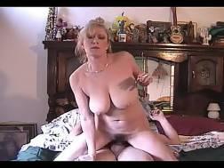 busty blonde wifey smokes