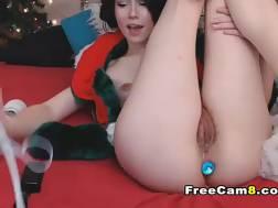 sexy vagina jizzing christmas