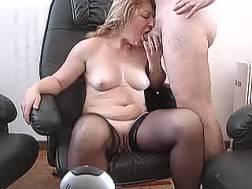 busty mature lady rides
