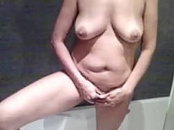 mature wifey takes shower