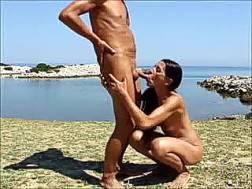 slim sucks dick beach