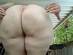 white fat appetizing booty