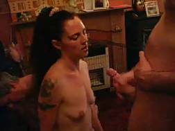 boobed slut sucks cock