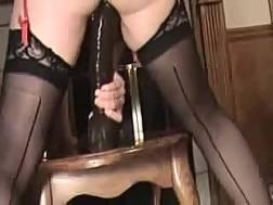 plump wifey drills pierced