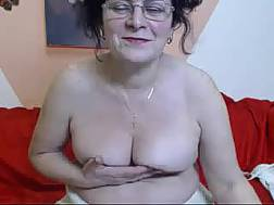 old wife undresses front