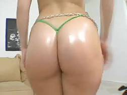 oiled ass hell working
