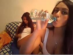 video wonderful brunettes stroking