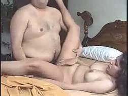 black haired slut jumps