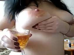 big breasted coed masturbating