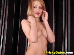 sexy blond undresses shows