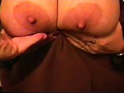 mature wifey plays hooters