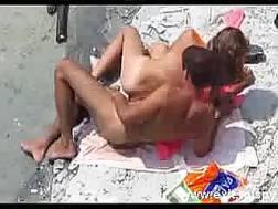 naughty nudist couple beach