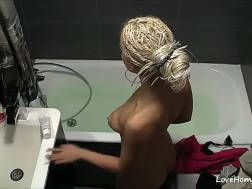 blond beauty plays vagina