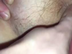 spreads hairy twat bum