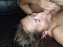 jizzing lovely face licks