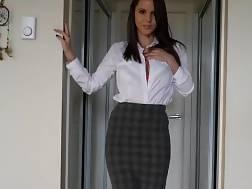 boobed schoolgirl changing front