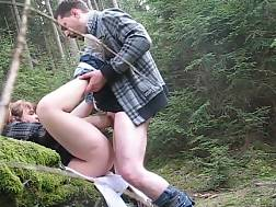 amateur couple forest &