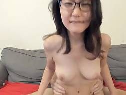 cute amateur asian taking