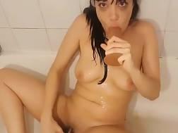 lustful girlie making throat