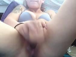mature wifey sitting legs
