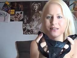 lovely blond white stockings