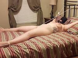 curvy girlie enjoying bondage