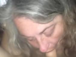 grandma blowing penis &