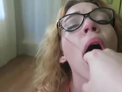nerdy looking nymph wet