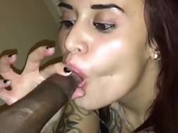 black dick filling throat