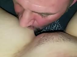 close-up pov husband licking