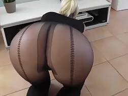 hot blond pantyhose blow