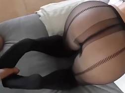 hot blond pantyhose blow