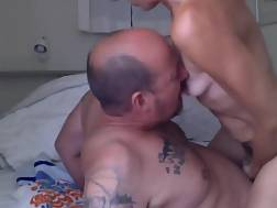old guy gets lick