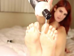 beautiful feet drilling backside